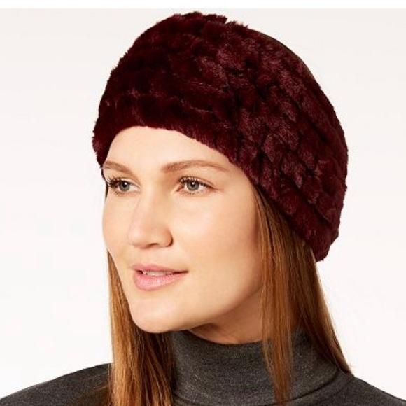 a7c80a7dbab Calvin Klein Faux Fur Headband